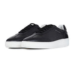 Black Leather Signature Trainers - P r é v u . S t u d i o .