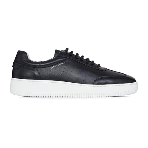 Black Leather Signature Trainers