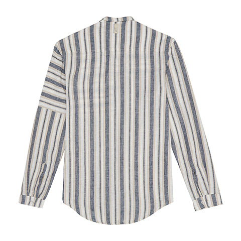 Load image into Gallery viewer, Ecru Cedar Stripe Slim Fit Shirt - P r é v u . S t u d i o .