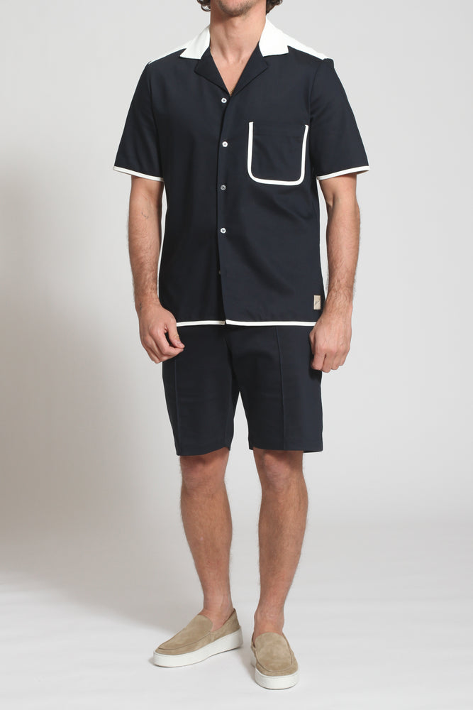 Navy Lincoln Regular Fit Shorts - Prévu Studio