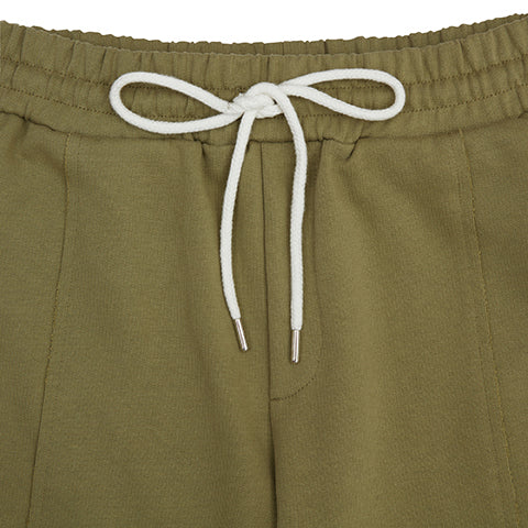 Load image into Gallery viewer, Khaki Core Luxe Shorts - P r é v u . S t u d i o .