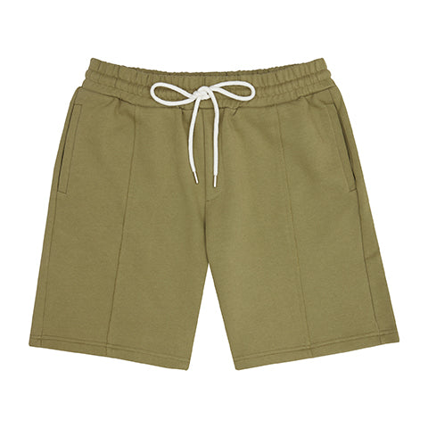 Khaki Core Luxe Shorts