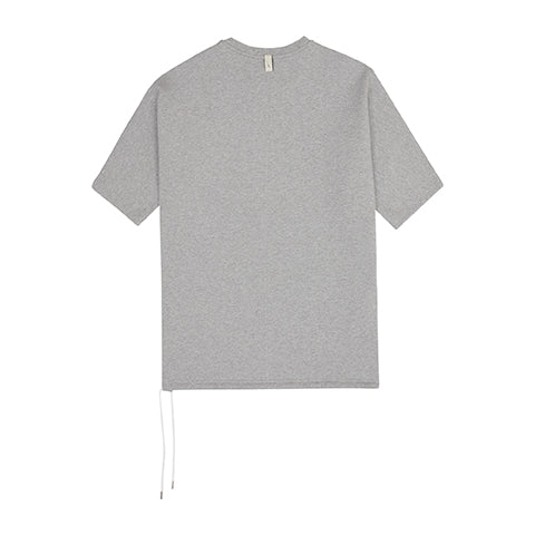 Load image into Gallery viewer, Grey Core Luxe Regular Fit T-Shirt - P r é v u . S t u d i o .