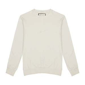 Load image into Gallery viewer, Ecru Signature Logo Sweatshirt - P r é v u . S t u d i o .
