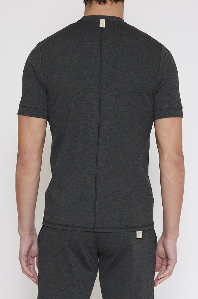 Charcoal Grey Belmont Slim Fit T-shirt - Prévu Studio