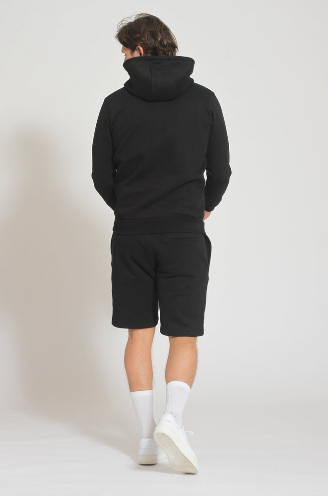 Load image into Gallery viewer, Black Double Logo Shorts - Prévu Studio