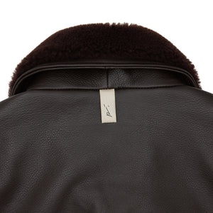 Load image into Gallery viewer, Brown Ellwood Rd Leather Patch Pocket Bomber - P r é v u . S t u d i o .