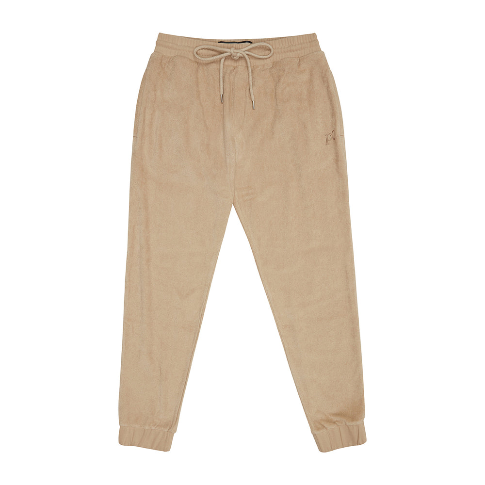 Tan Astor Towelling Joggers