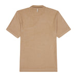Tan Astor Towelling Short Sleeve Slim Fit Polo - P r é v u . S t u d i o .