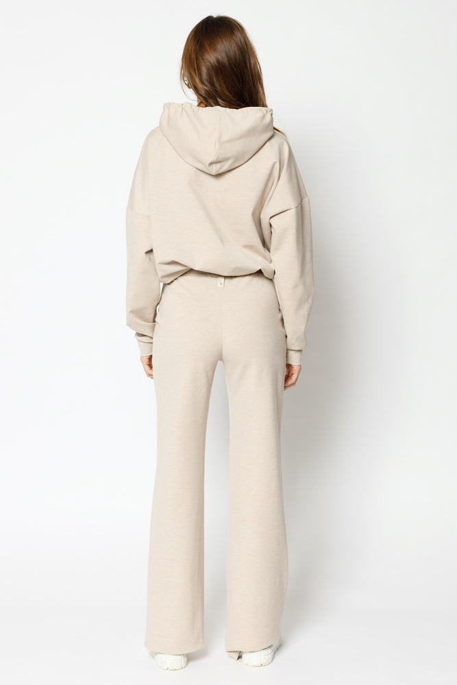 Load image into Gallery viewer, Women's Cream Colville Wide Leg Trousers - P r é v u . S t u d i o .