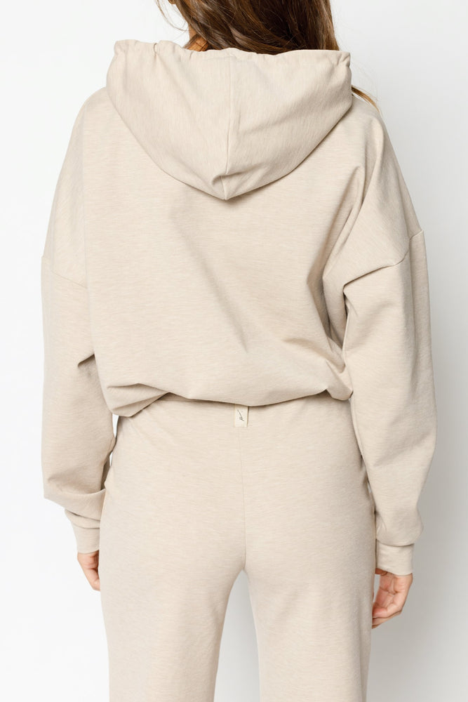 Women's Cream Colville Regular Fit Hoodie - P r é v u . S t u d i o .