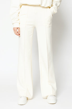 Load image into Gallery viewer, Women's White Ripley Wide Leg Trousers - P r é v u . S t u d i o .