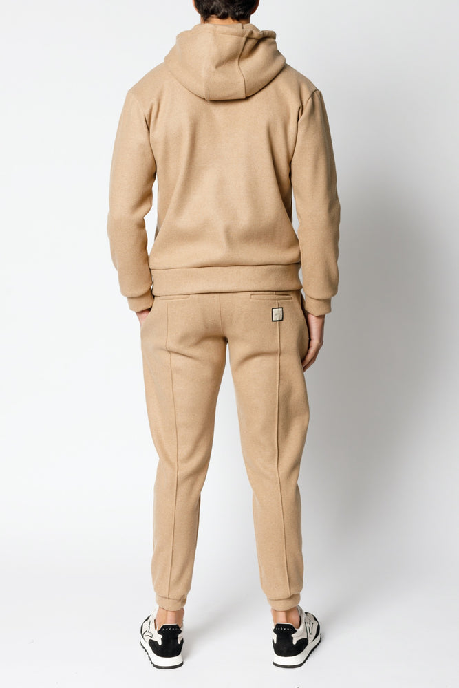 Load image into Gallery viewer, Camel Matteo Italian Wool Slim Fit Joggers - P r é v u . S t u d i o .