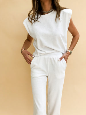 Women's White Delos Box Fit T-shirt - P r é v u . S t u d i o .