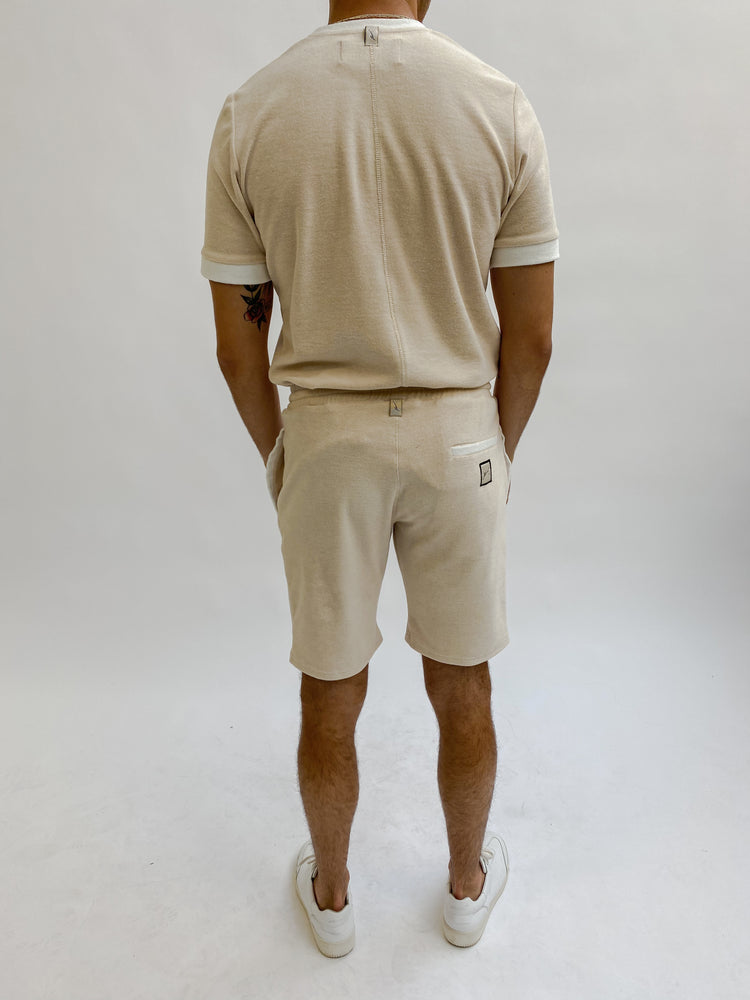 Load image into Gallery viewer, Beige Delos Shorts - P r é v u . S t u d i o .
