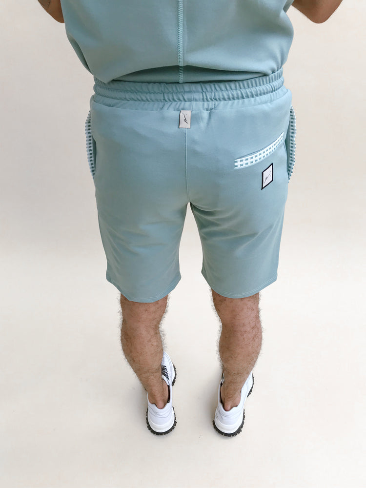 Load image into Gallery viewer, Mint Bonaire Contrast Shorts - P r é v u . S t u d i o .