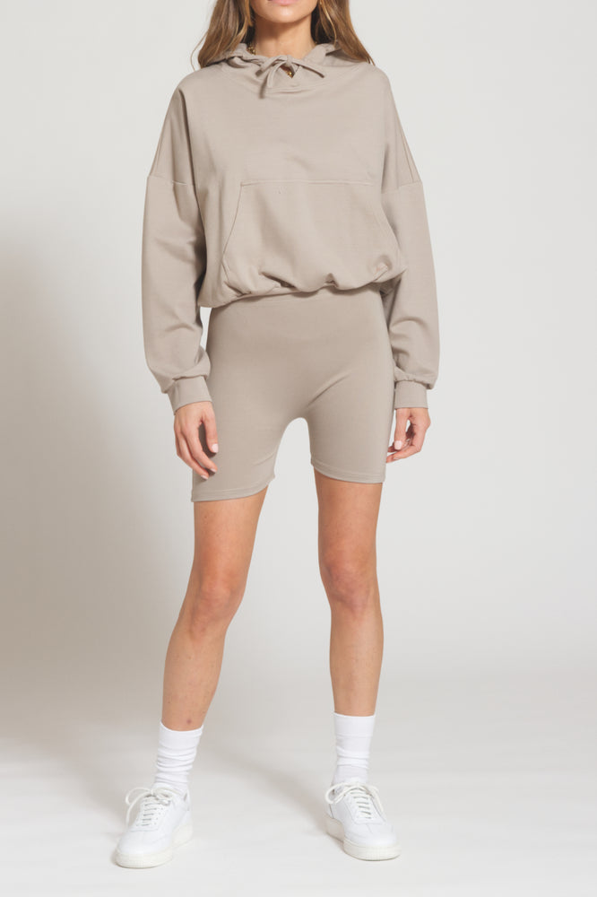 Women's Beige Belmont Cycling Shorts - Prévu Studio
