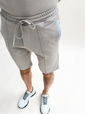 Load image into Gallery viewer, Beige Savan Contrast Shorts - P r é v u . S t u d i o .