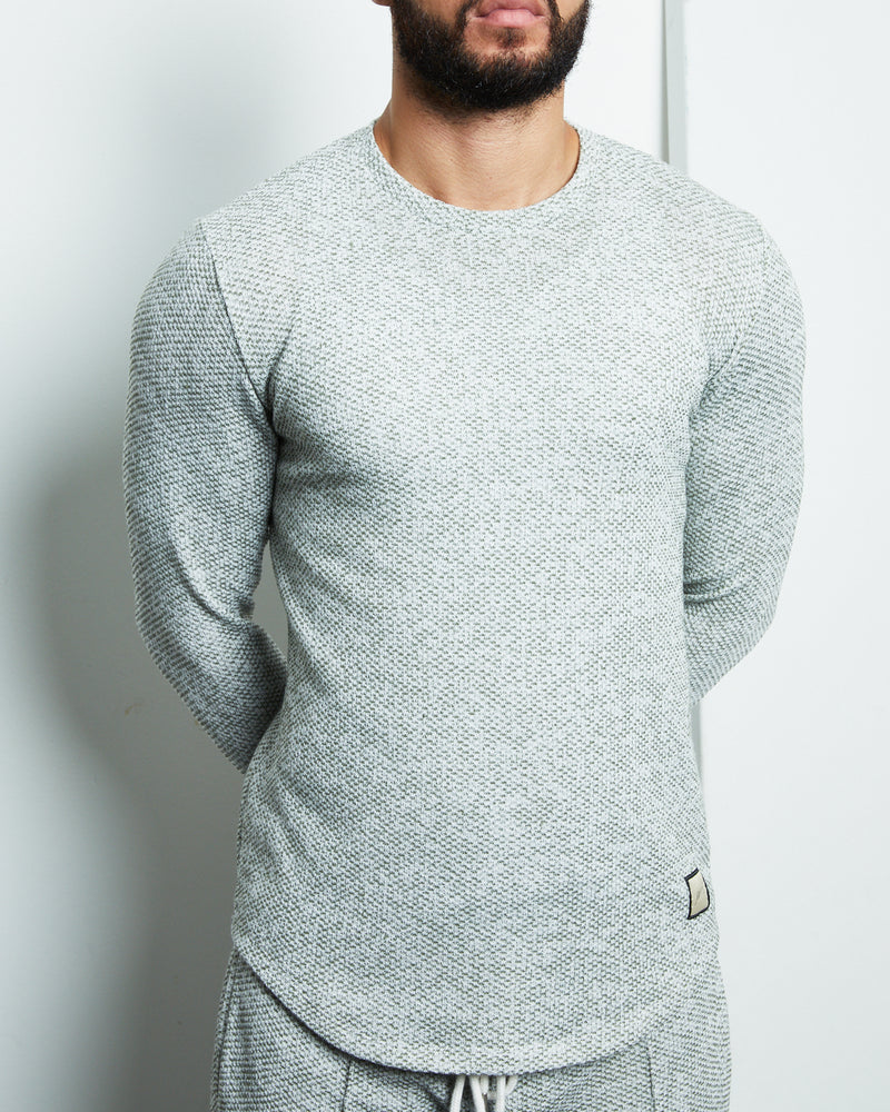 Green Hylton Slim Fit Long Sleeve T-shirt