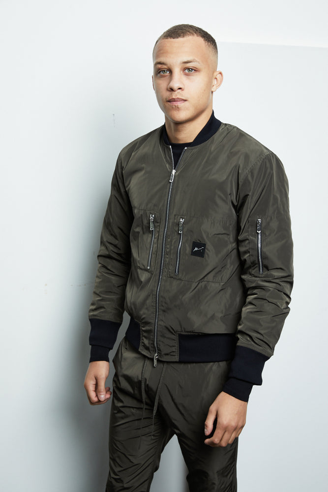 Khaki Galileo Technical MA1 Bomber Jacket