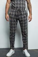 Grey Graian Check Slim Fit Trouser