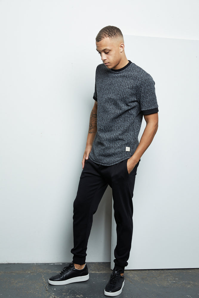 Black Balfour Check Slim Fit T-shirt