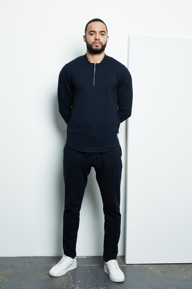Navy Candreva Slim Fit Trousers