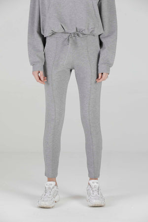 Load image into Gallery viewer, Women's Grey Marl Aruba Skinny Fit Joggers - P r é v u . S t u d i o .