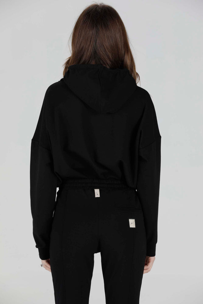 Load image into Gallery viewer, Women's Black Aruba Oversized Hoodie - P r é v u . S t u d i o .