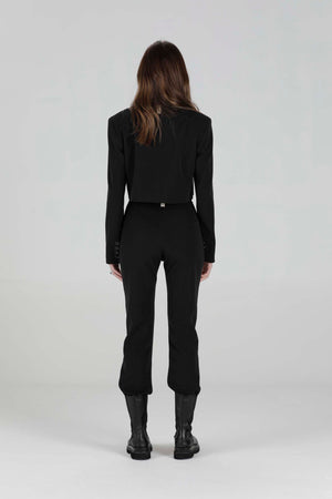 Load image into Gallery viewer, Women's Black San Cropped Blazer - P r é v u . S t u d i o .