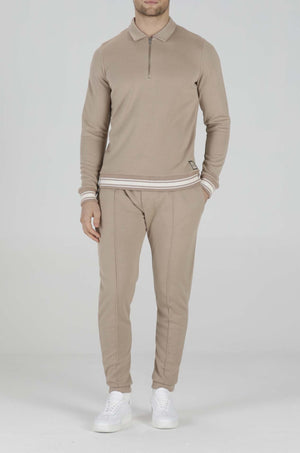 Load image into Gallery viewer, Camel Helix Slim Fit Joggers - P r é v u . S t u d i o .
