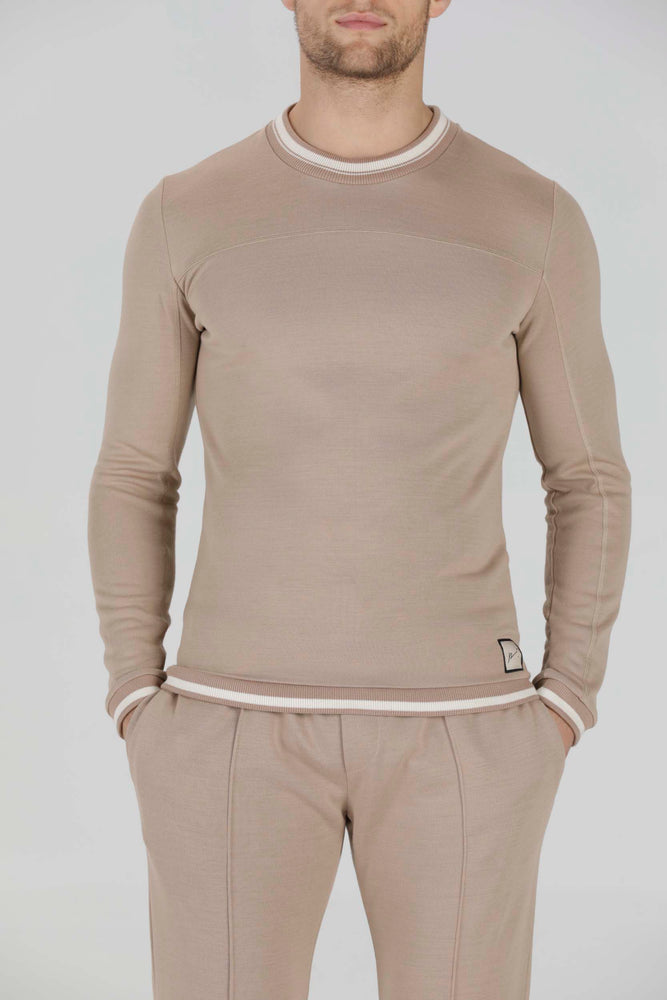 Load image into Gallery viewer, Camel Helix Contrast Slim Fit Top - P r é v u . S t u d i o .