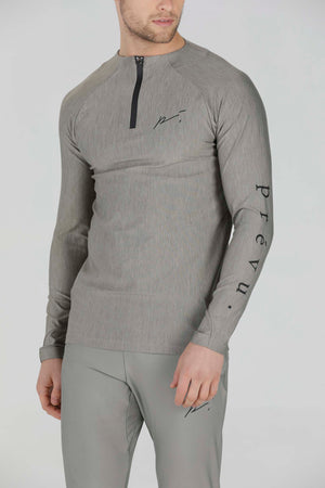 Load image into Gallery viewer, Light Khaki 1/2 Zip Running Top - P r é v u . S t u d i o .
