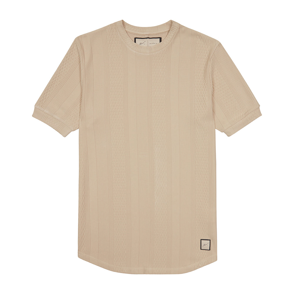 Load image into Gallery viewer, Tan Broad Street Short Sleeve T-Shirt - P r é v u . S t u d i o .