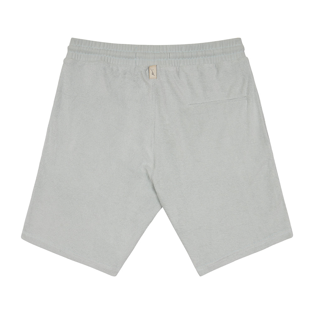 Load image into Gallery viewer, Light Blue Astor Towelling Shorts - P r é v u . S t u d i o .