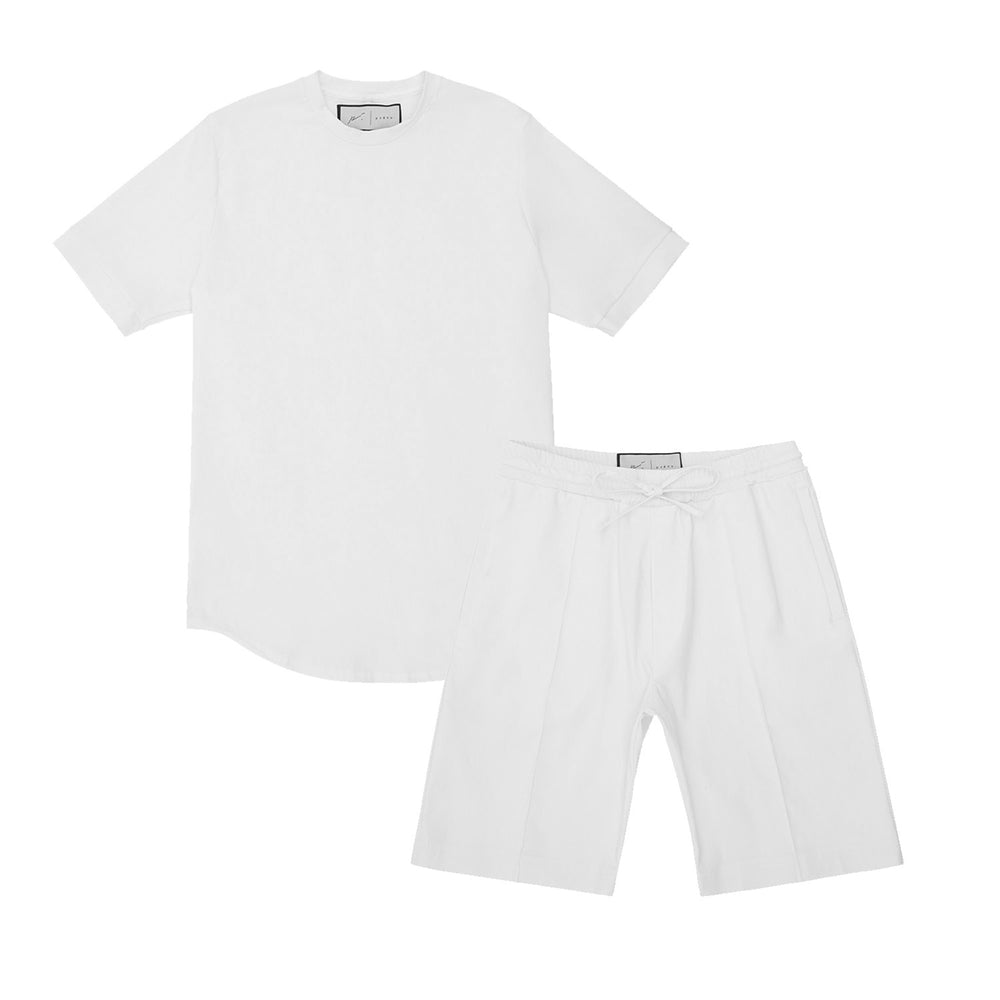 Melrose Avenue Short Twinset Ice White