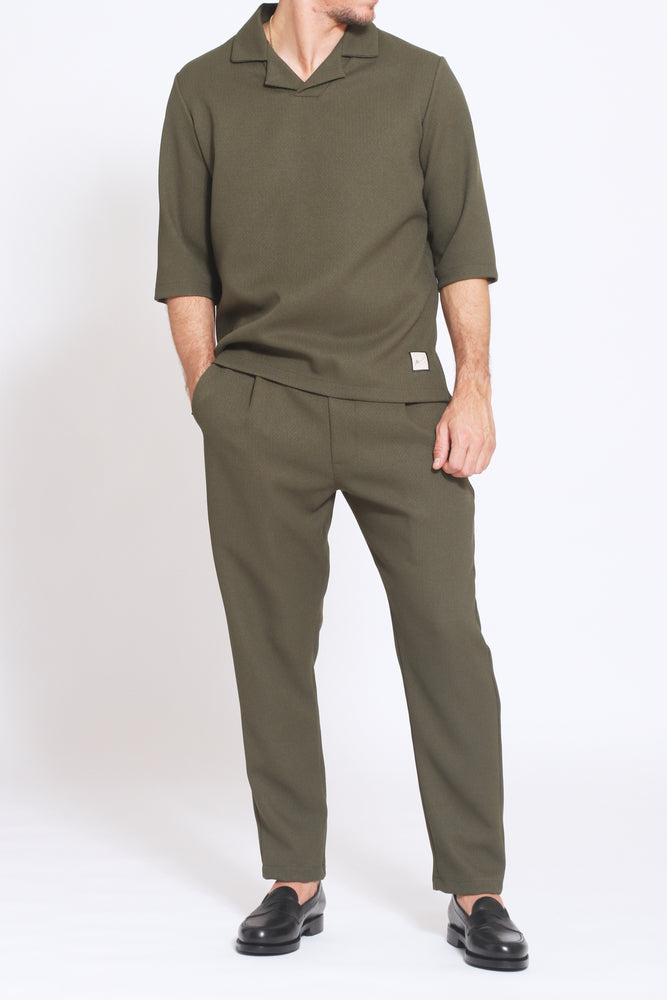 Khaki Belvoir Loose Fit Trousers - Prévu Studio