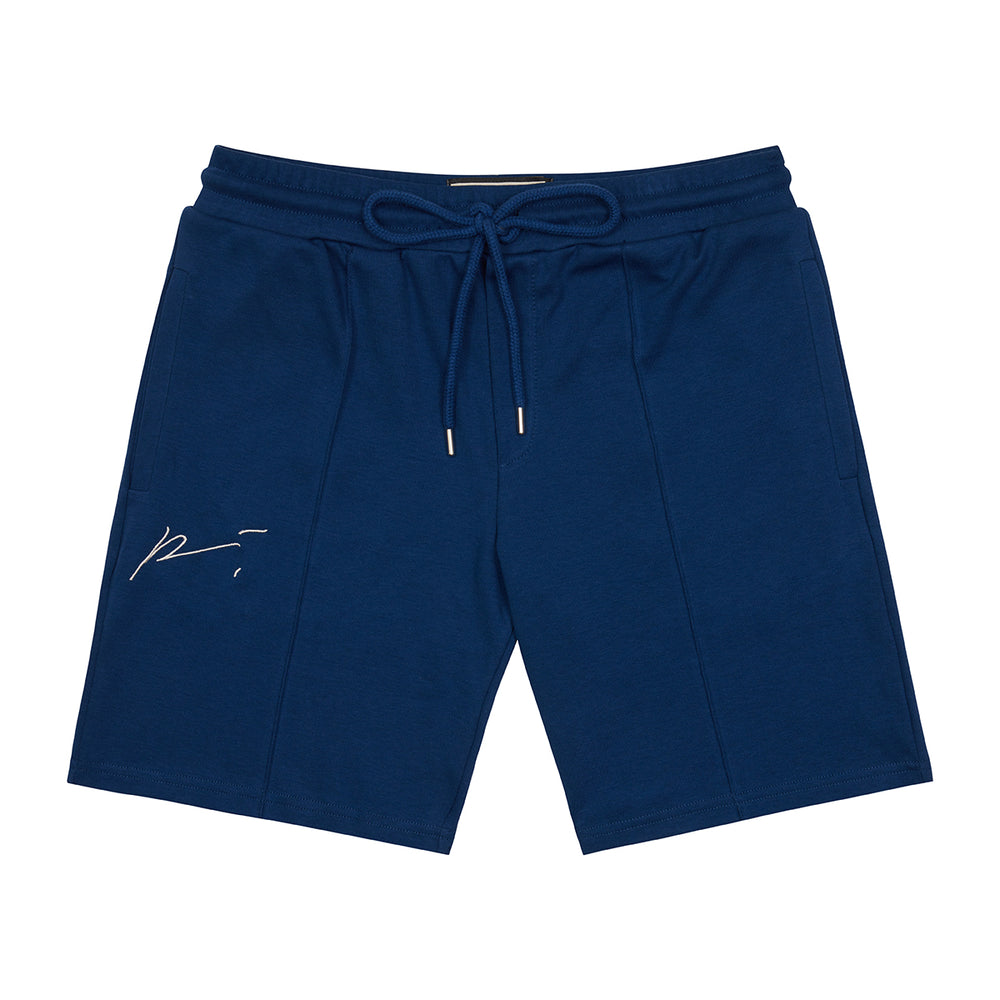 Navy Signature Logo Shorts