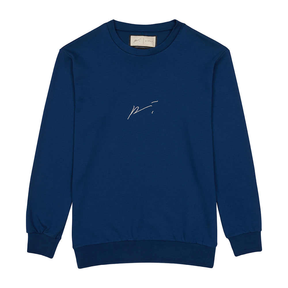 Navy Signature Logo Sweatshirt