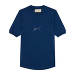 Navy Signature Logo Print Slim Fit T-Shirt