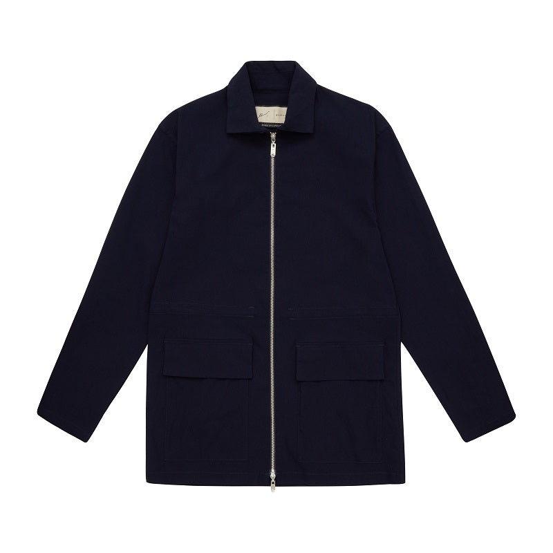 Load image into Gallery viewer, Navy Signature Parka Jacket - P r é v u . S t u d i o .
