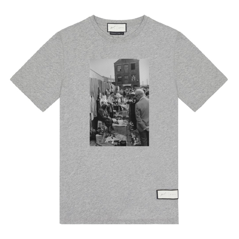 Signature Bees & Honey T-Shirt Grey Marl