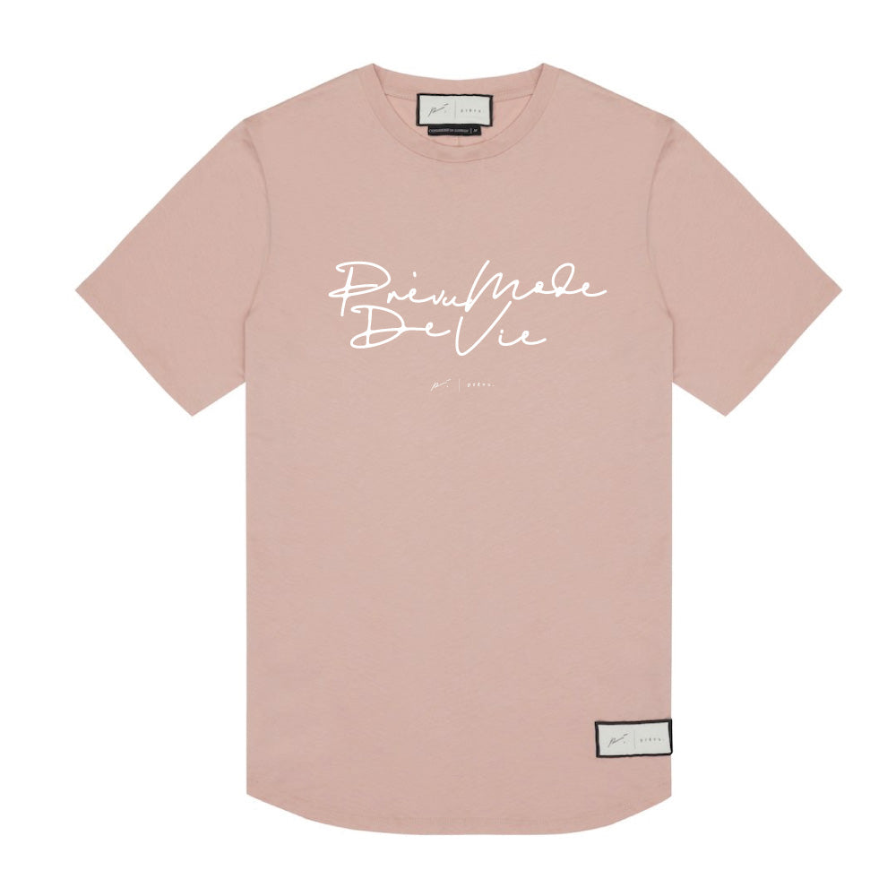 Signature Prevu Mode De Vi Print T-Shirt Blush