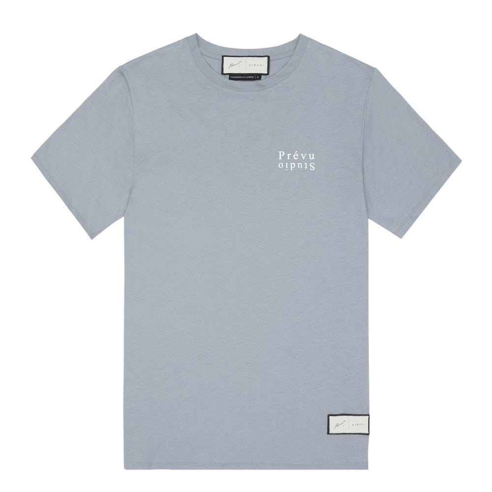 Signature Prevu Studio Print T-Shirt Dusty Blue