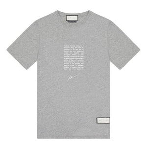 Signature Cockney Rhyming T-Shirt Grey Marl - P r é v u . S t u d i o .