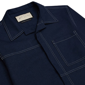 Navy Ocean Skinny Fit Shirt