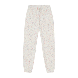 Load image into Gallery viewer, Kids White Milas Flecked Towelling Joggers - P r é v u . S t u d i o .