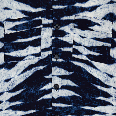 Load image into Gallery viewer, Navy Playa Tie Dye Slim Fit Shirt - P r é v u . S t u d i o .