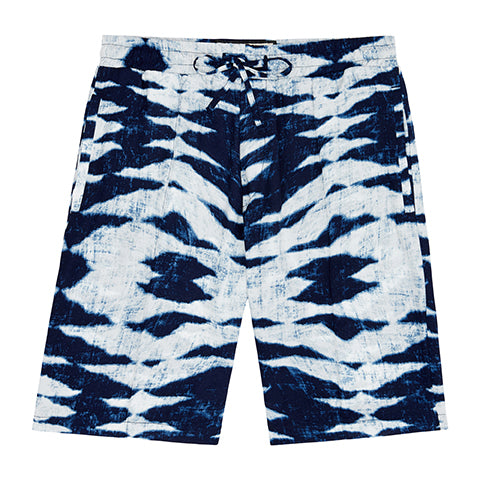 Load image into Gallery viewer, Navy Playa Tie Dye Shorts - P r é v u . S t u d i o .