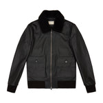 Ellwood Rd Leather Patch Pocket Bomber Black